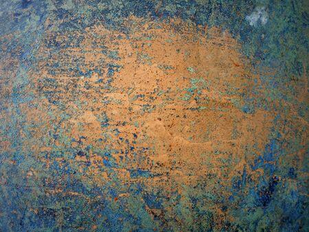 blue metallic rust