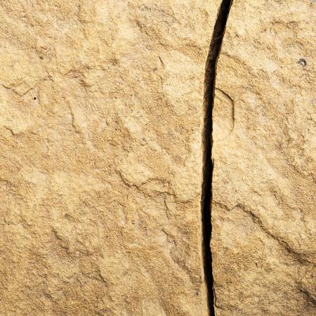 bedrock: Bedrock crack Stock Photo