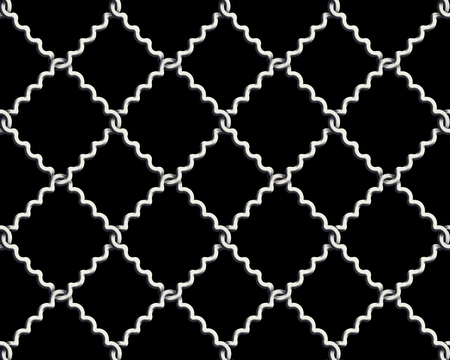 mesh wire for fencing on a black background photo