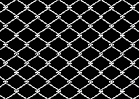 fencing wire: mesh wire for fencing on a black background Stock Photo