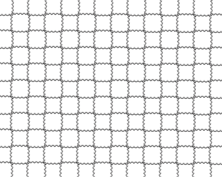 part prison: mesh wire for fencing on a white background Stock Photo