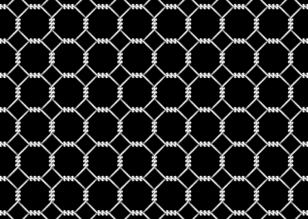 detain: mesh wire for fencing on a black background Stock Photo