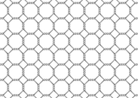 fencing wire: mesh wire for fencing on a white background Stock Photo