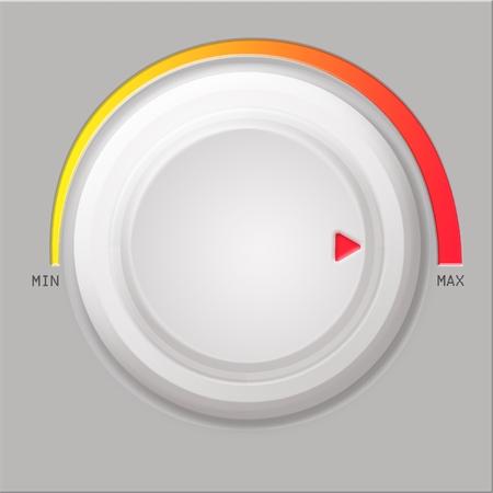White volume button on gray background photo