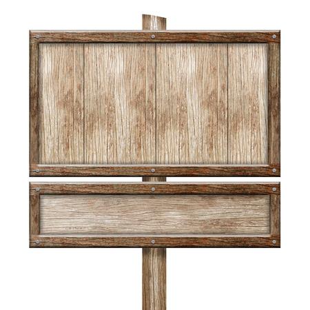 Signo de madera aislado en blanco Foto de archivo - 38917532