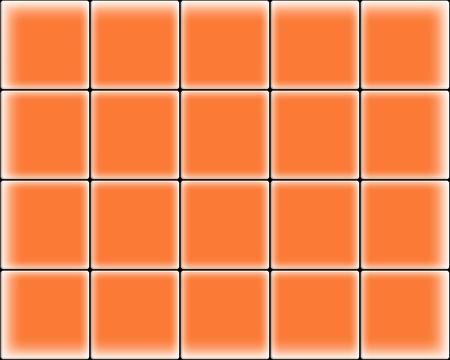 wall tile: Orange wall tile Stock Photo