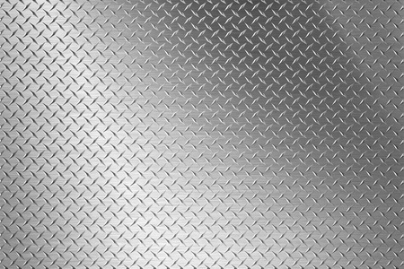 brushed steel: background of metal diamond plate Stock Photo