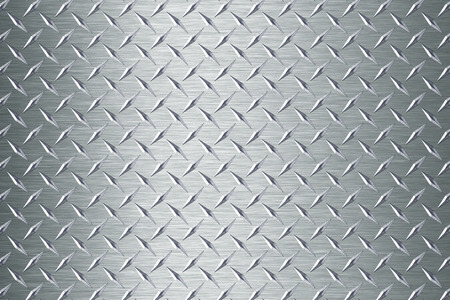 background of metal diamond plate Banco de Imagens
