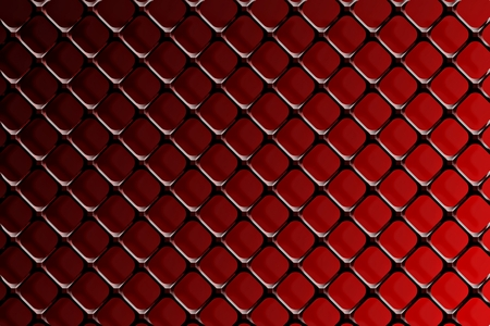 Steel grating on a red background. Stock Photo
