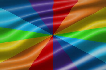 wave equality: rainbow waving flag