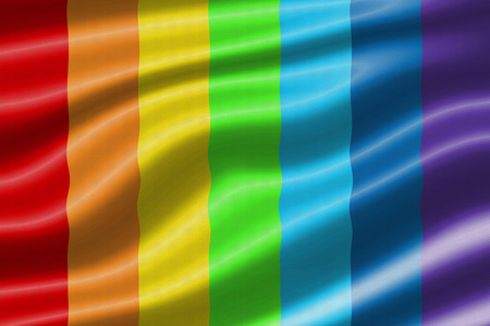 wave equality: rainbow waving flag