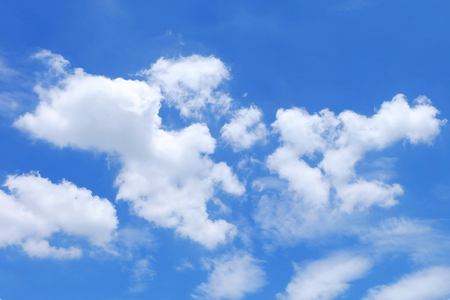 nimbi: blue sky with white clouds