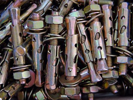 dowel: Anchor bolts closeup Stock Photo