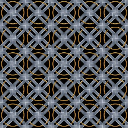 interweaving: abstract metallic wickerwork pattern