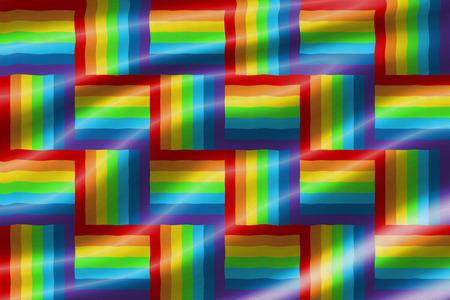 transsexual: rainbow waving flag