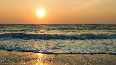 tonight: Beautiful sunset over the sea Stock Photo