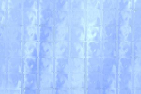 glass brick: Sky blue color glass brick wall