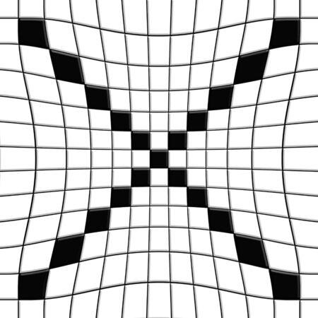 checked flag: Black and white tile patterns