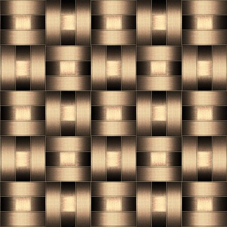 interweaving: abstract metallic wickerwork pattern
