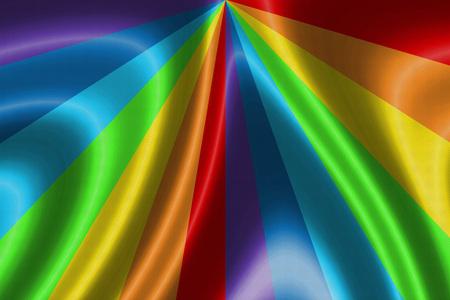 transexual: arco iris de la bandera ondeando