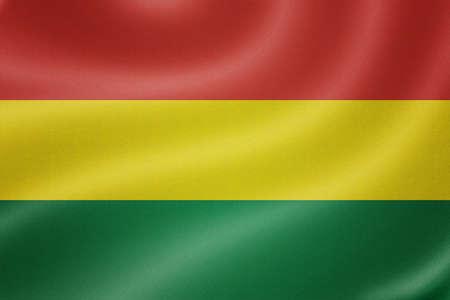 bandera de bolivia: Bolivia bandera en el fondo de textura de tela