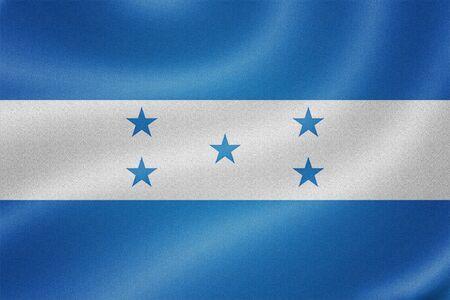 bandera de honduras: Bandera de Honduras en el fondo de textura de tela