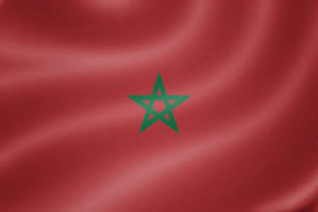 sovereignty: Morocco flag on the fabric texture background