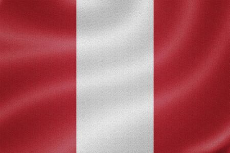 bandera de peru: Bandera de Per� en el fondo de textura de tela