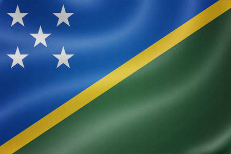 sovereignty: Solomon Islands flag on the fabric texture background