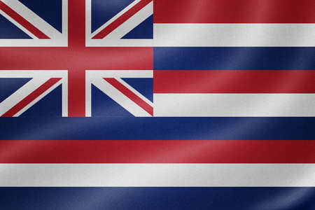 hawaii flag: Hawaii flag on the fabric texture background