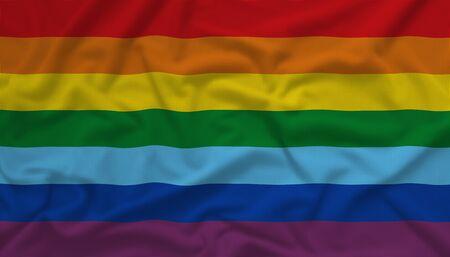 gay pride flag: Rainbow gay pride flag Stock Photo