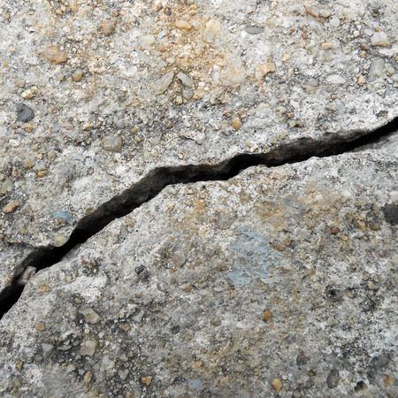 crack: chauss�e fissure Banque d'images