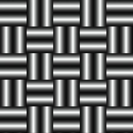 metallic: abstract metallic wickerwork pattern
