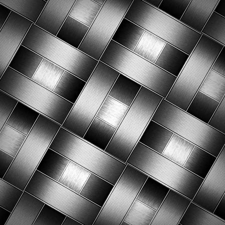 metal pattern: abstract metallic wickerwork pattern