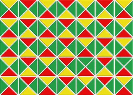 reggae: Tile motif triangulaire reggae