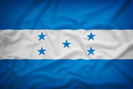 bandera honduras: Bandera de Honduras en el fondo de textura de tela, estilo vintage