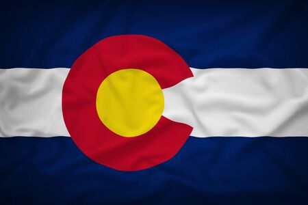 colorado flag: Colorado flag on the fabric texture background,Vintage style