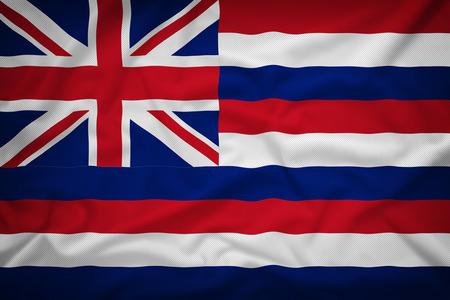 hawaii flag: Hawaii flag on the fabric texture background,Vintage style