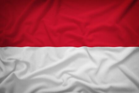 poland flag: Poland flag on the fabric texture background,Vintage style