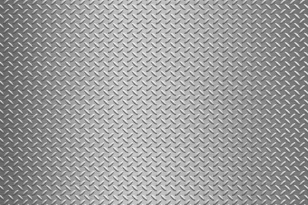 iron and steel: background of metal diamond plate Stock Photo