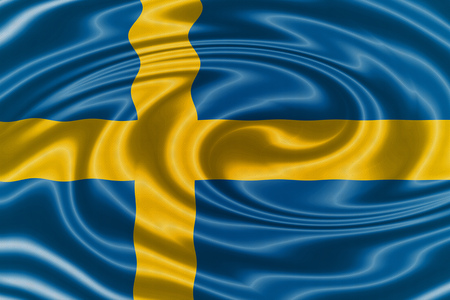 sovereignty: Sweden waving flag