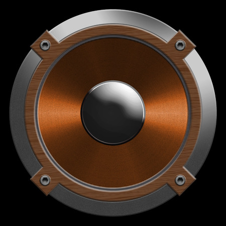 woofer: speaker isolated on a black background