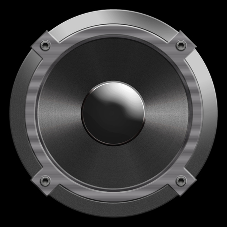 sub woofer: speaker isolated on a black background