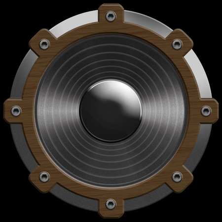 objec: speaker isolated on a black background
