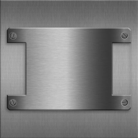 plate: Metal plate background Stock Photo