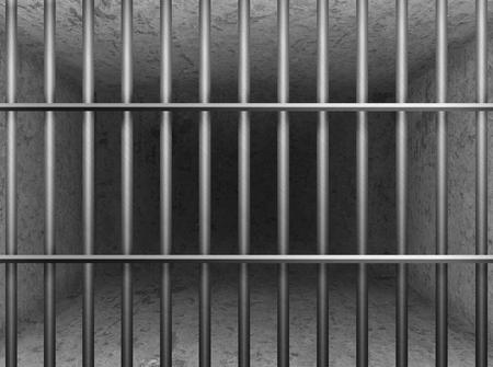 carcel: detención prisión. sala de hormigón gris Foto de archivo