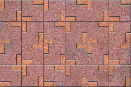 pavers: Pattern of sidewalk pavers Stock Photo