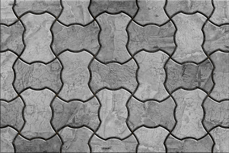 truncated: Gray Wavy Paving stone Stacking