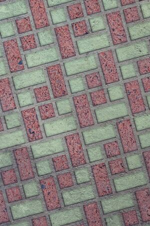 Brown and Green Pavement of Rectangles