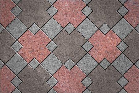 Vloertegels, graniet vierkant patroon
